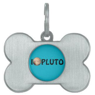 I Heart Pluto New Horizon Pet Tag