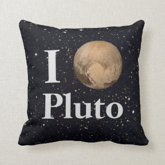 I Heart Pluto Starry Sky Throw Pillow