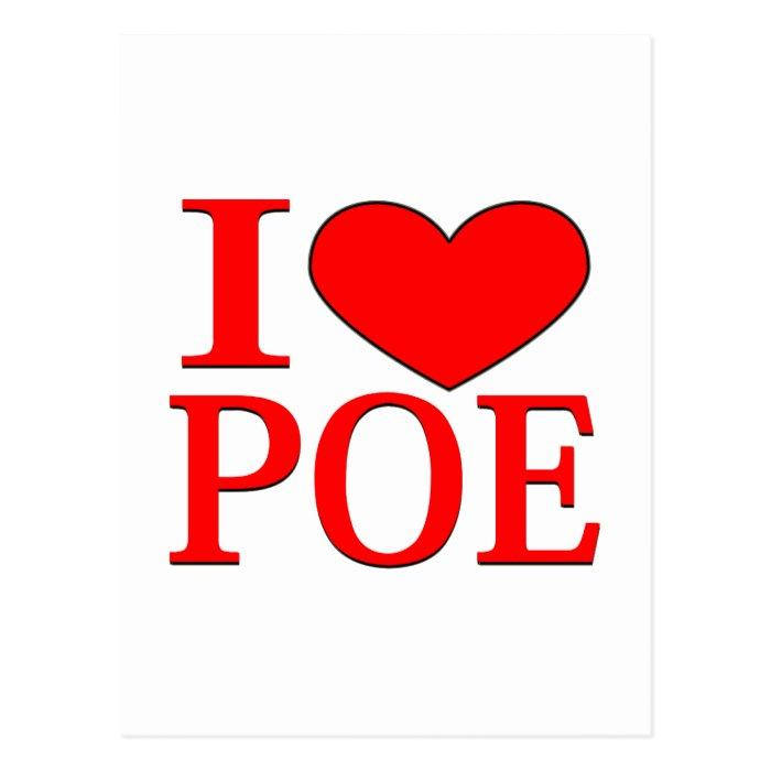 I Heart Poe Postcard
