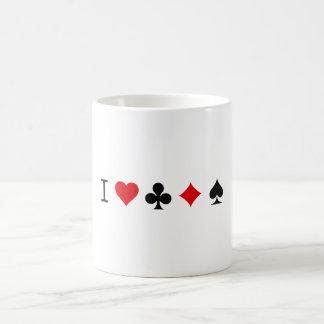 I heart poker coffee mug