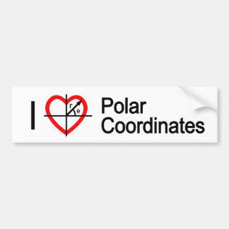 I heart Polar Coordinates Car Bumper Sticker