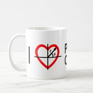 I heart Polar Coordinates Classic White Coffee Mug
