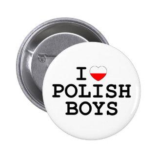I Heart Polish Boys Pinback Button