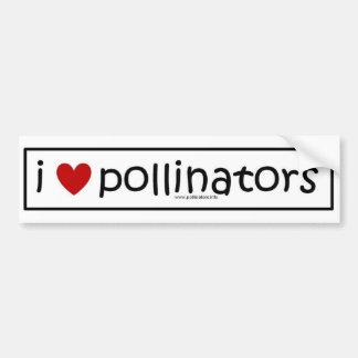 i heart pollinators bumper sticker
