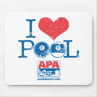 I Heart Pool Mouse Pad