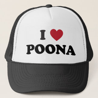 I Heart Poona India Trucker Hat