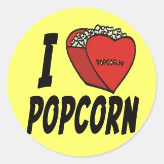 I Heart Popcorn stickers