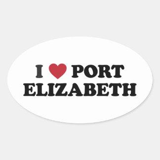 I Heart Port Elizabeth South Africa Oval Sticker