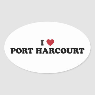 I Heart Port Harcourt Nigeria Oval Sticker