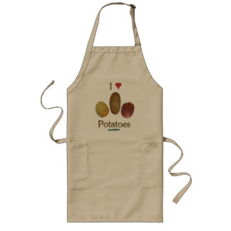 I Heart Potatoes Long Apron