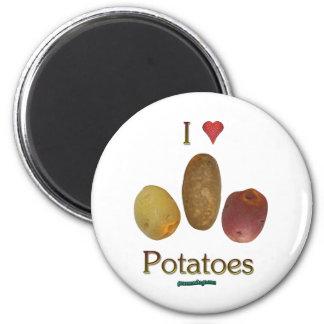 I Heart Potatoes Magnet