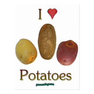 I Heart Potatoes Postcard
