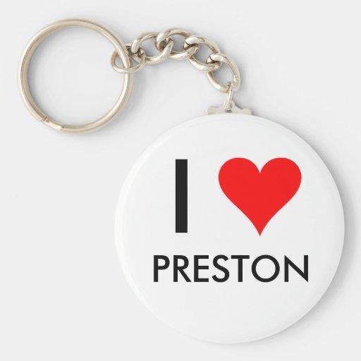 I Heart Preston Key Chain