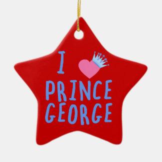 I Heart Prince George Ceramic Ornament