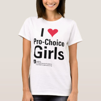 I Heart Pro-Choice Girls T-Shirt