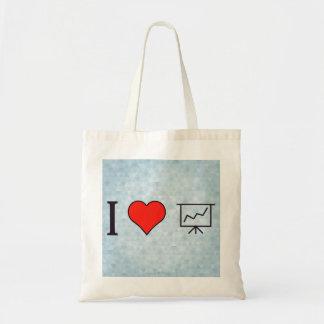 I Heart Progress Charts Tote Bag
