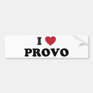 I Heart Provo Utah Bumper Sticker