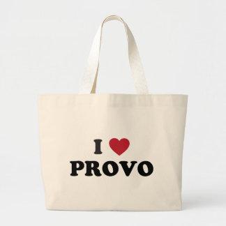 I Heart Provo Utah Jumbo Tote Bag