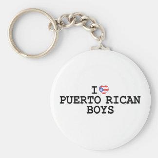 I Heart Puerto Rican Boys Basic Round Button Keychain