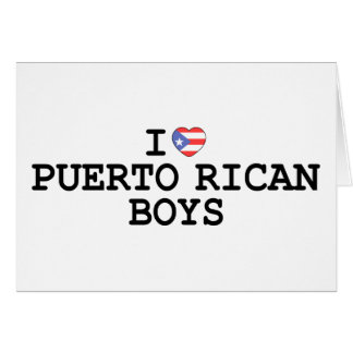 I Heart Puerto Rican Boys Greeting Card