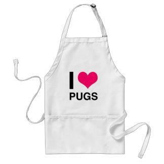 I Heart Pugs Adult Apron