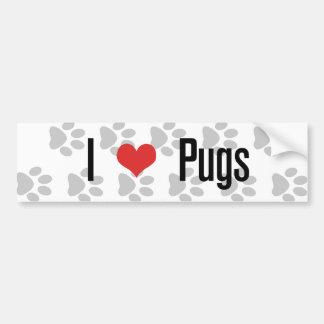 I (heart) Pugs Car Bumper Sticker