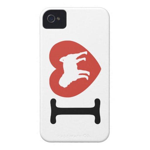 I Heart Pugs iPhone Case iPhone 4 Case