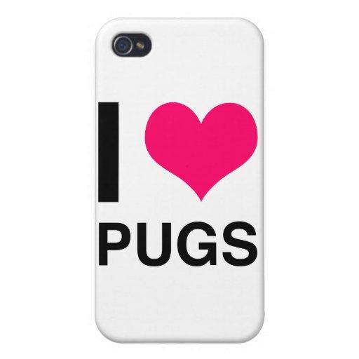 I Heart Pugs iPhone 4/4S Case