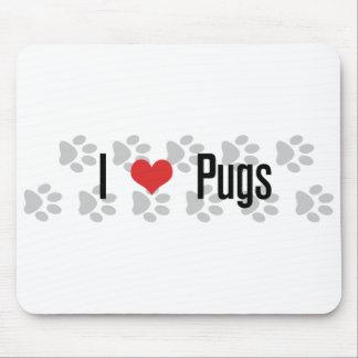 I (heart) Pugs Mouse Pad