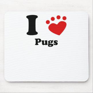 I Heart Pugs Mousepad