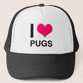 I Heart Pugs Trucker Hat