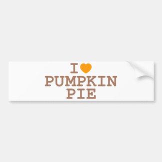 I Heart Pumpkin Pie Car Bumper Sticker