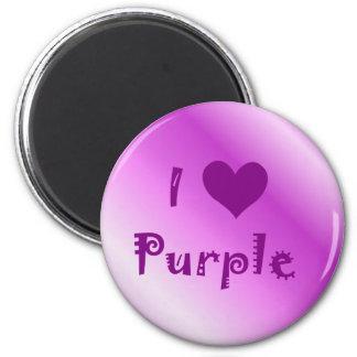I Heart Purple Magnets