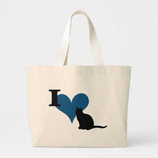 I Heart Pussy Cat Canvas Bags