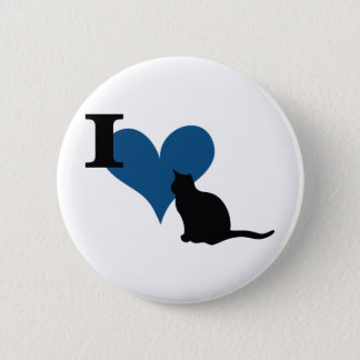 I Heart Pussy Cat Button
