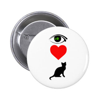 I Heart Pussy_Cat 2 Inch Round Button