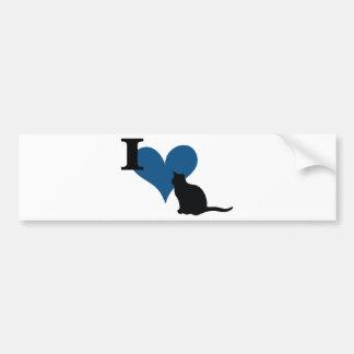 I Heart Pussy Cat Car Bumper Sticker