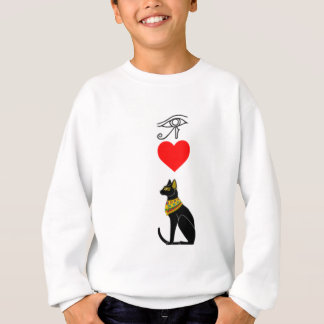I Heart Pussy_Cat, Egyptian Hieroglyphics Sweatshirt