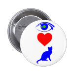 I Heart Pussy_Cat Pinback Button
