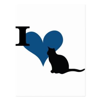 I Heart Pussy Cat Postcard