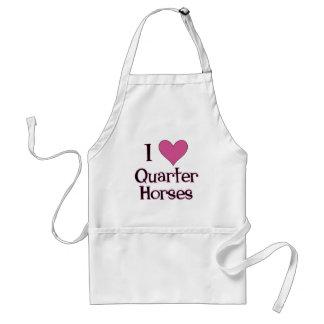I Heart Quarter Horses Adult Apron