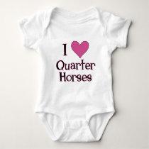 I Heart Quarter Horses Baby Bodysuit