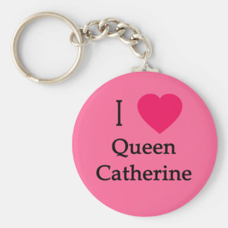 I Heart Queen Catherine Apparel, Buttons, Mugs Basic Round Button Keychain