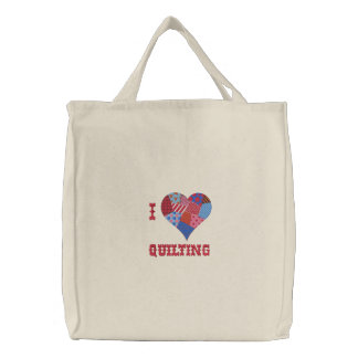 I HEART QUILTING Tote Bag