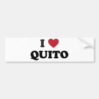 I Heart Quito Ecuador Car Bumper Sticker