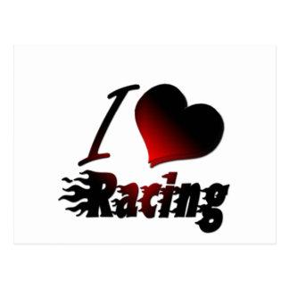 I Heart Racing #1 Postcard