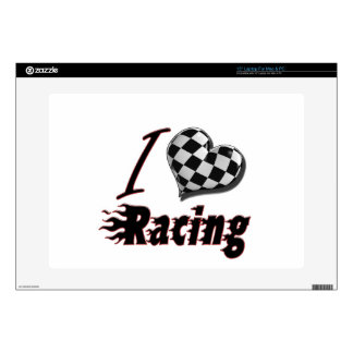 "I Heart Racing #2 15"" Laptop Skins"