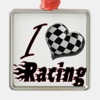 I Heart Racing 2 Ornament