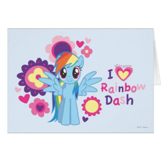 I Heart Rainbow Dash Card