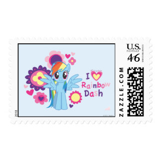 I Heart Rainbow Dash Postage Stamps